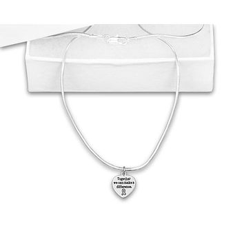 Together We Can Make a Difference Necklace for all Causes