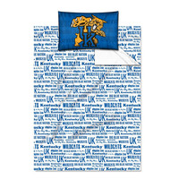Kentucky Wildcats NCAA Twin Sheet Set (Anthem Series)
