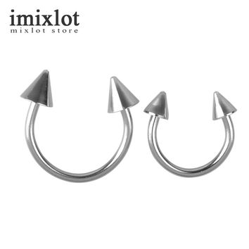 2Pcs Lip Piercing Surgical Stainless Steel Body Jewelry Eyebrow Nose Labret Lip Ring Tragus Cartilage Piercing Nose Ring