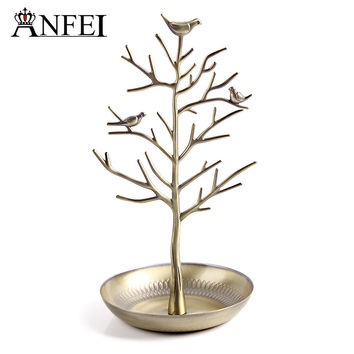 Free shipping Tree retro earrings ring jewelry rack to hang act the role ofing is tasted Receive a display shelf rack