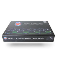 Seattle Seahawks NFL Checkers Set