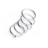 Brandy ♥ Melville |  Silver Stackable Moon Ring Set - Just In