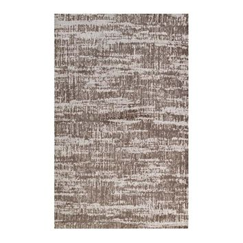 Darja Distressed Rustic Modern 5x8 Area Rug, Light and Dark Tan -Modway
