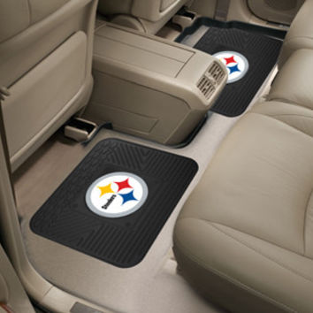 "NFL - Pittsburgh Steelers  Backseat Utility Mats 2 Pack 14""x17"""