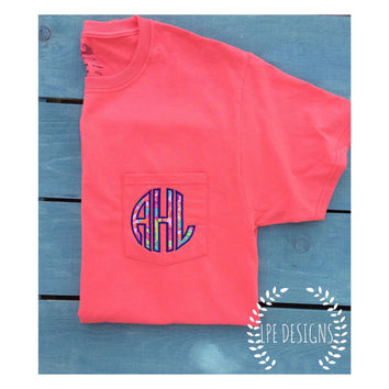 Lilly Pulitzer Monogrammed Pocket T-Shirt