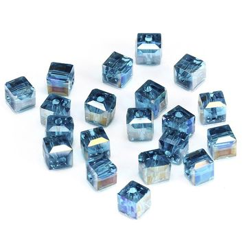 2mmx2mm 200pcs dark blue ab Square Shape Upscale Austrian Crystal Beads Transparent Beads Quadrate Supply Bracelet Jewelry make