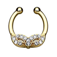 Masquerade Mask Gold IP Faux Septum Hanger