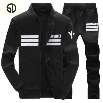 Brand-Clothing Menswear Fashion Tracksuit Casual SportSuit Mens Spring/Winter Hoodies/Sweatshirts Coat+Pant Tracksuit Men Polo