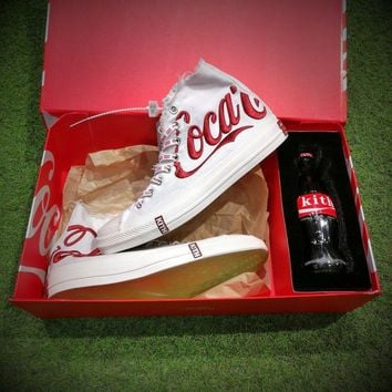 Best Onlie Sale Kith X Coca Cola X Converse Chuck Taylor All Star 1970s High 70 Sneakers White Red 160286c