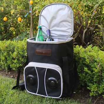 Picnic Pack Cooler Cart with Bluetooth Speaker