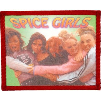 Spice Girls Men's Group Pic 5 Photo Patch Maroon