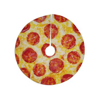 "KESS Original ""Pizza My Heart"" Pepperoni Cheese Tree Skirt"