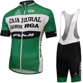 Jersey Cycle Summer Men's Bicycle Competition Jersey Retro Breathable Short-sleeved Suit Bicycle Mountain Cross-country Clothing