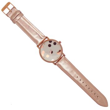Pop-up the Confetti Watch: Metallic Rose Gold