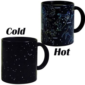 Fantastic Constellation Stars Mugs Magic Color Changing Home Coffee Tea Cups Ceramic Mug