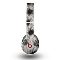 The Dotted Black & White Animal Fur Skin for the Beats by Dre Original Solo-Solo HD Headphones
