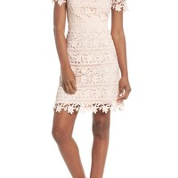 Eliza J Crochet Overlay Dress (Regular & Petite) | Nordstrom