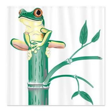 Frog Bamboo Shower Curtain> Shower Curtains> CLICK HERE-4 LOWER PRICES-GetYerGoat.com