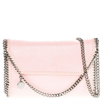 Stella McCartney Falabella Pearlescent Faux Leather Fold-over Clutch | Overstock.com Shopping - The Best Deals on Designer Handbags