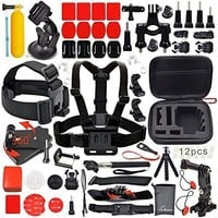 Neewer 50-In-1 Sport Accessory Kit for GoPro Hero4 Session Hero1 2 3 3+ 4 SJ4000 5000 6000 7000 Xiaomi Yi in Swimming Rowing Skiing Climbing Bike Riding Camping Diving and Other Outdoor Sports