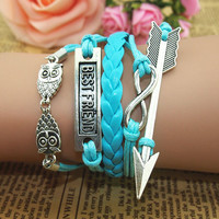 NT0091 Romantic password Leather Bracelet