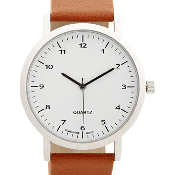 mini st analog faux leather watch from aéropostale mens mini st analog faux leather watch