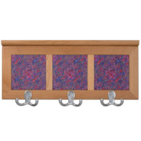 Red Blue Marbled Paper Coat Racks