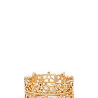 FOREVER 21 Filigree Midi Ring Set Gold One