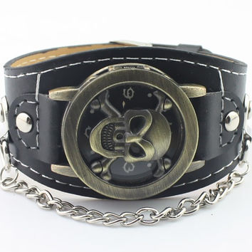 Skull Analog Quartz Watch Rock Style ML1068