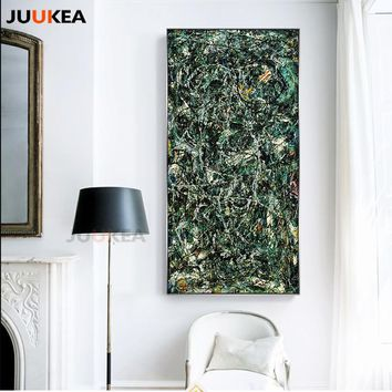 Large Size Modern Super Abstract Full Fathom Five, Canvas Print Painting Poster, Wall Art Wall Pictures for Hallway Decoration