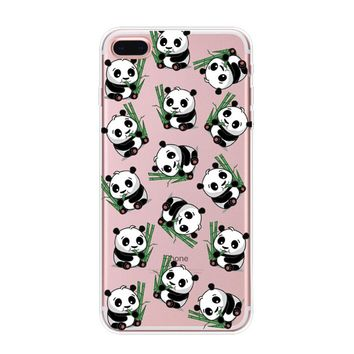 Cute Bamboo Panda iPhone 7 6s 6 Plus & iPhone X 8 Plus Case Cover with Gift Box