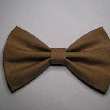 Taupe Color Hair Bow, Fabric Hair Bow,Fabric Bow, Bows for Kids, Hair bows