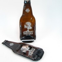 Melted Beer Bottle Spoon Rest, Arrogant Bastard Ale, Wall Art, Guy Gift Ideas, Housewarming for Him
