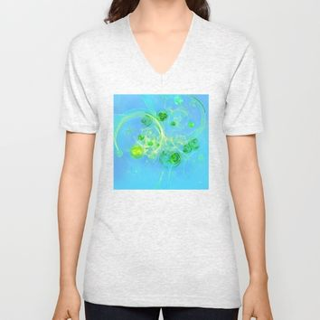 Summer Tree of Life - #Abstract #Art by Menega Sabidussi #society6 Unisex V-Neck by Menega Sabidussi