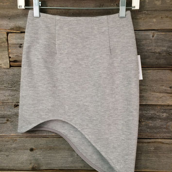 ASYMMETRIC SKIRT - GREY