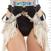 Star Rider Fringe Belt in Hologram