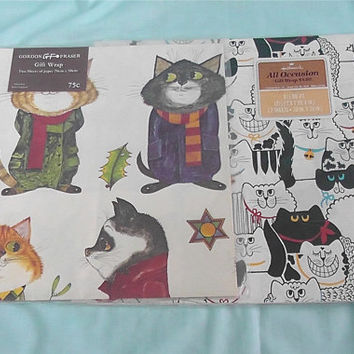 "Vintage ""Cat"" Wrapping Paper"