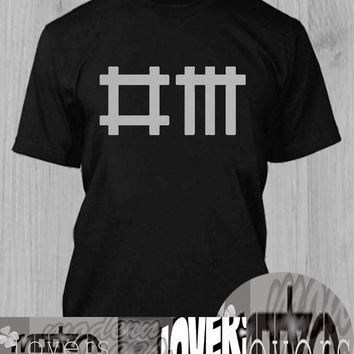 DM Mode TShirt Tee Shirts Black and White For Men and Women Unisex Size