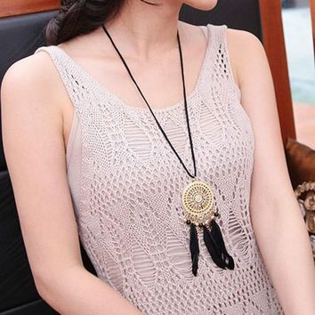 Shiny Jewelry Stylish New Arrival Gift Indian Dream Catcher Bohemia Sweater Chain Necklace [10985315655]