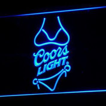 Coors Light Beer Bikini Bar Pub LED Neon Sign with On/Off Switch 7 Colors 4 Sizes