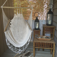 Natural white hammock chair