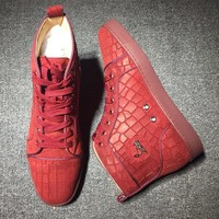 Christian Louboutin CL Suede Style #2231 Sneakers Fashion Shoes Best Deal Online