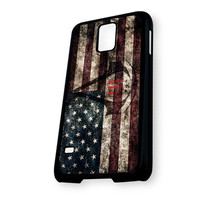Assassin's Creed Logo American Style Flag Samsung Galaxy S5 Case