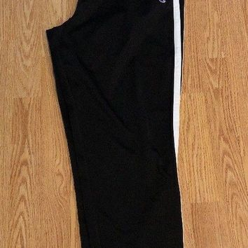 Nwt Champion Mens XL Black & White Track Pants