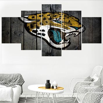 Animal Jacksonville Jaguars Team Prints Paintings Wall Home Decor Picture Canvas Painting Calligraphy For Living Room Bedroom