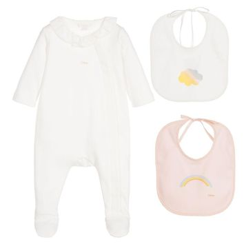 Baby Girls Onesuit & Bibs Gift Set