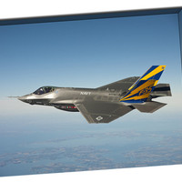 F-35 Fighter (Navy Version) on Mirror Wrapped Canvas