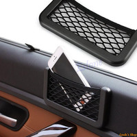 Hot New Auto Car Vehicle Storage Nets Resilient String Bag Phone holder Pocket Organizer