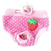 Cheap Pet Supplies Dogs Shaming Costumes Clothes Diapers Dresses Underwear Pink