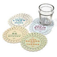 Z Gallerie - Indelicate Doilies Coasters